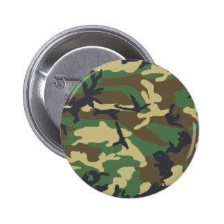 Woodland Camouflage Design 2 Inch Round Button