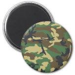 Woodland Camouflage Design 2 Inch Round Magnet