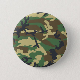 Woodland Camouflage Design Button