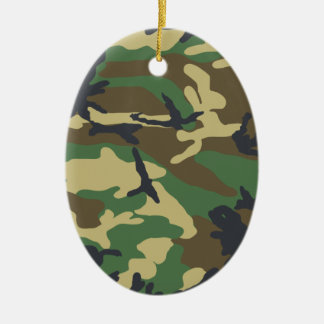 Woodland Camouflage Design Ceramic Ornament