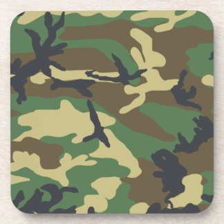 Woodland Camouflage Design Coaster
