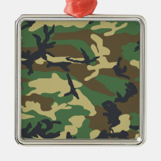 Woodland Camouflage Design Metal Ornament