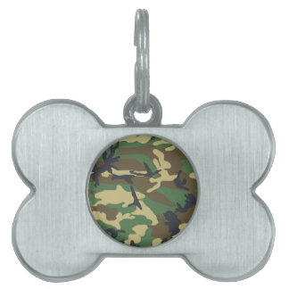 Woodland Camouflage Design Pet ID Tag