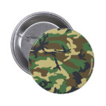 Woodland Camouflage Design Pinback Buttons
