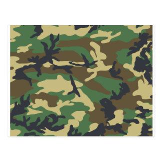 Woodland Camouflage Design Postcard