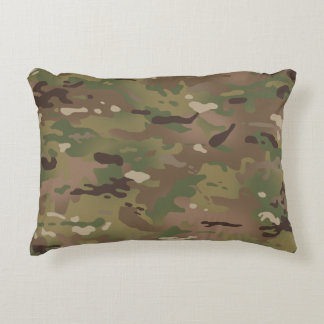 Woodland Camouflage I Accent Pillow