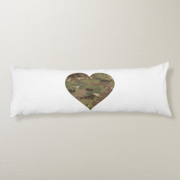 Woodland Camouflage I Heart Body Pillow