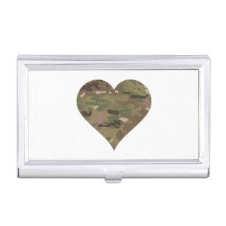 Woodland Camouflage I Heart Business Card Case