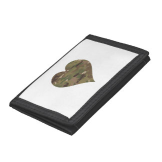 Woodland Camouflage I Heart Trifold Wallet