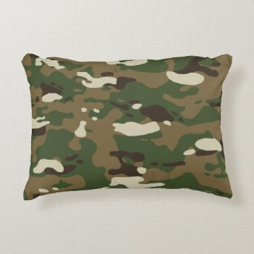 Woodland Camouflage II Accent Pillow