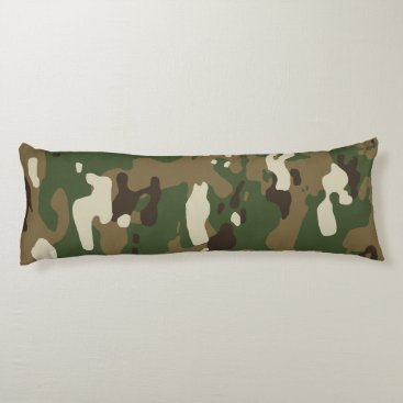 Woodland Camouflage II Body Pillow