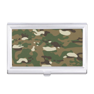 Woodland Camouflage II Business Card Case