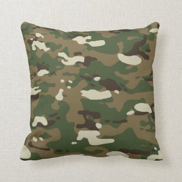 Woodland Camouflage II Throw Pillow