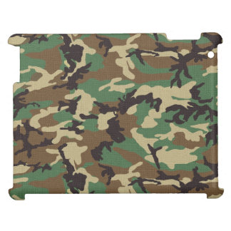 Woodland Camouflage iPad Case