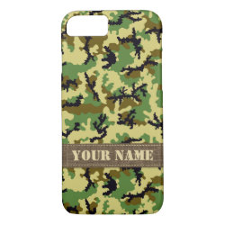 Woodland camouflage iPhone 7 case