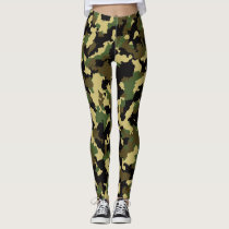 Woodland Camouflage Leggings