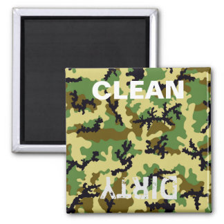 Woodland camouflage magnet