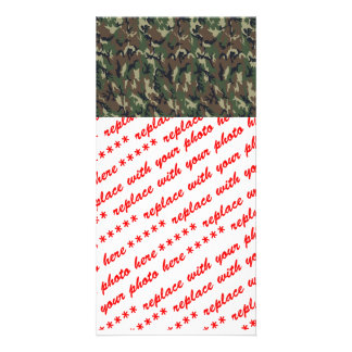 Woodland Camouflage Military Background Card