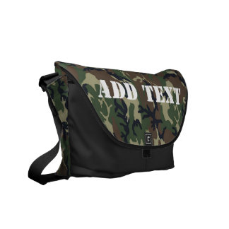 Woodland Camouflage Military Background Courier Bag