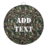 Woodland Camouflage Military Background Dart Board