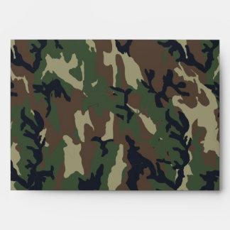 Woodland Camouflage Military Background Envelope