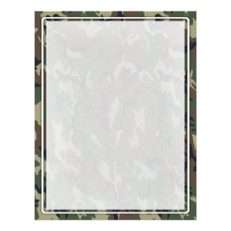 Woodland Camouflage Military Background Flyer Design