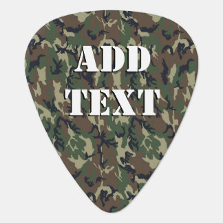 Woodland Camouflage Military Background Guitar Pick