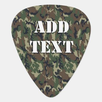 Woodland Camouflage Military Background Guitar Pick by Camouflage4you at Zazzle