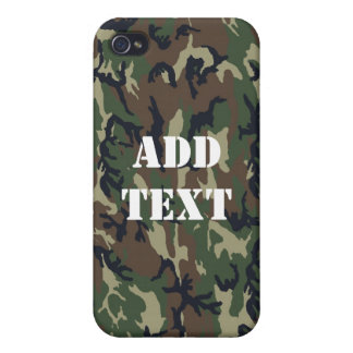 Woodland Camouflage Military Background Cover For iPhone 4
