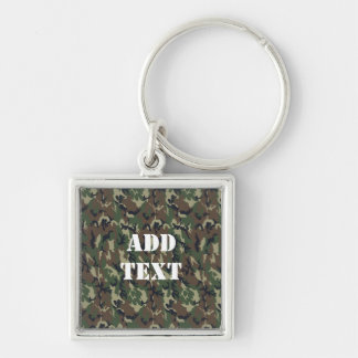 Woodland Camouflage Military Background Key Chains