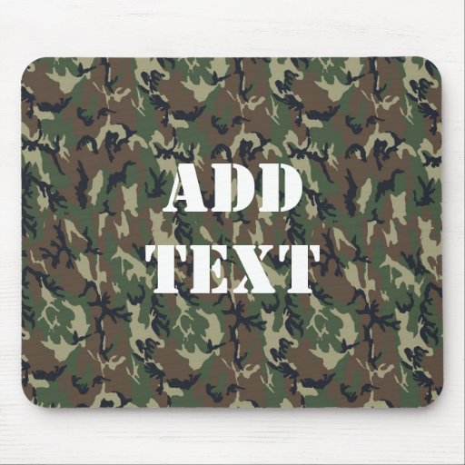 Woodland Camouflage Military Background Mouse Pad