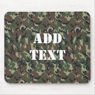 Woodland Camouflage Military Background Mousepads