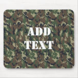 Woodland Camouflage Military Background Mousepads