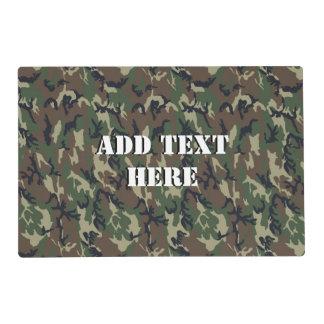 Woodland Camouflage Military Background Laminated Place Mat