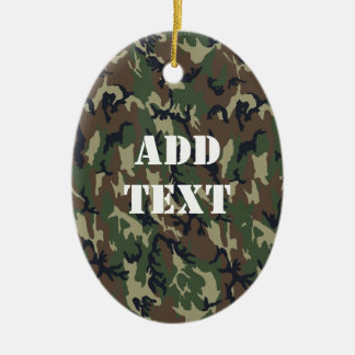 Woodland Camouflage Military Background Ornament