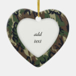 Woodland Camouflage Military Background Christmas Tree Ornament