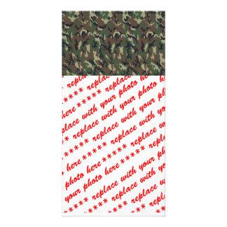Woodland Camouflage Military Background Photo Greeting Card