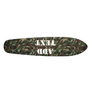Woodland Camouflage Military Background Skateboard