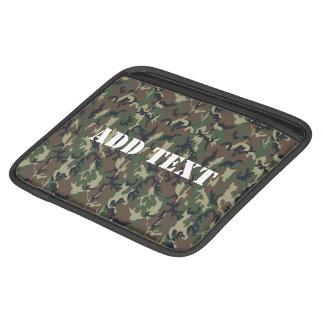 Woodland Camouflage Military Background Sleeve For iPads