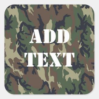 Woodland Camouflage Military Background Sticker