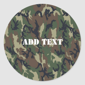 Woodland Camouflage Military Background Stickers