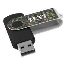 Woodland Camouflage Military Background USB Flash Drive