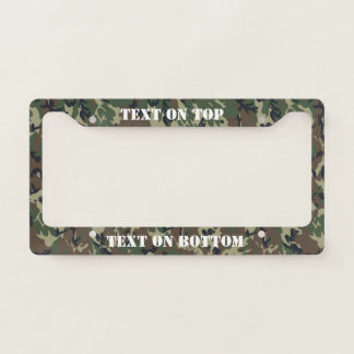 Woodland Camouflage Military Pattern License Plate Frame