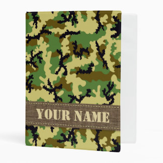 Woodland camouflage mini binder