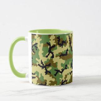 Woodland camouflage mug