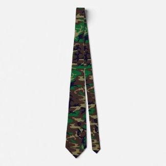 Woodland Camouflage Neck Tie