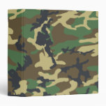 Woodland Camouflage pattern 3 Ring Binders