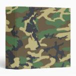 Woodland Camouflage pattern Binder