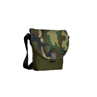 Woodland Camouflage pattern Courier Bag