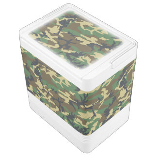 Woodland Camouflage Pattern Drink Cooler